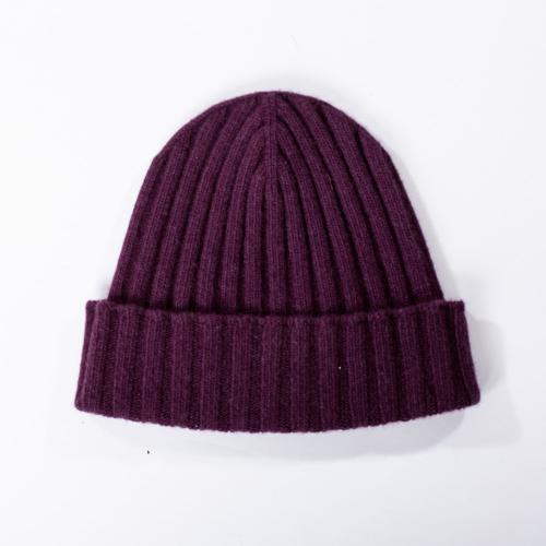 Cashmere Blend Hat Purple