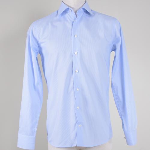 Light Blue Striped Poplin Shirt