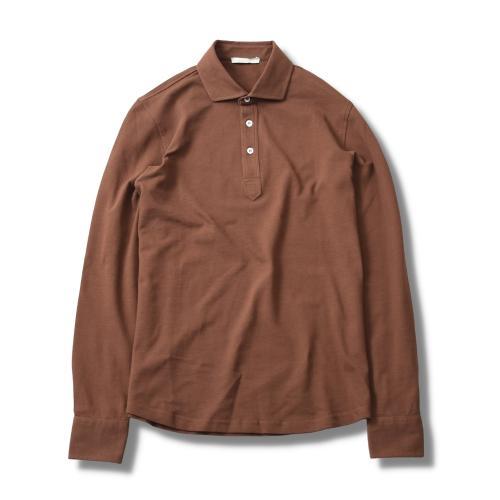 Polo Pique Long Sleeve Brown
