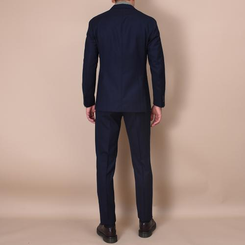 Navy wool K-Jacket suit