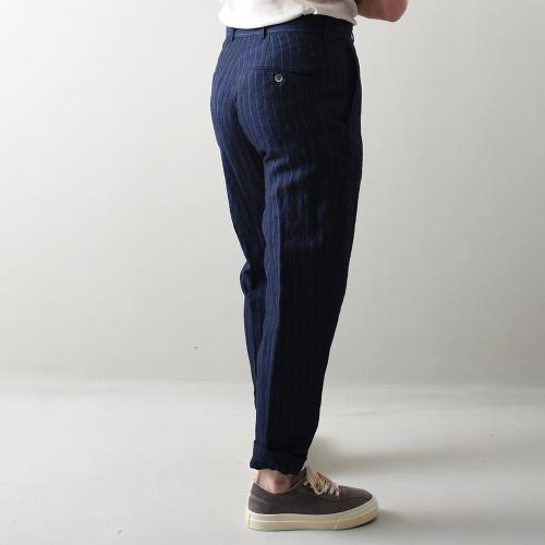 Nico Trousers Linnen Navy