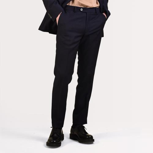Denz Linen Trousers Navy