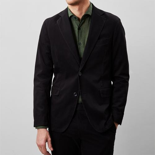 Egel Cotton Blazer Black