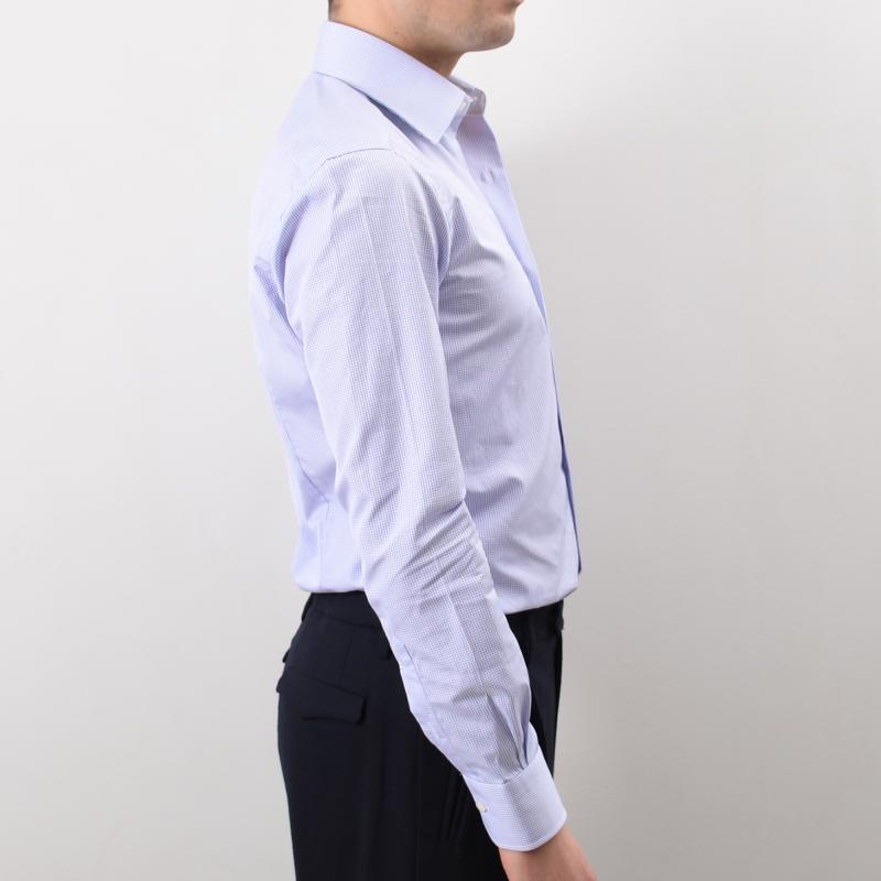 Semi Slim Checked Shirt
