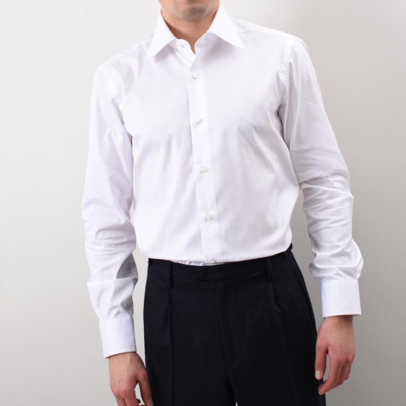 Semi Slim White Shirt