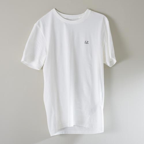 30/1 Jersey Chest Logo T-Shirt White