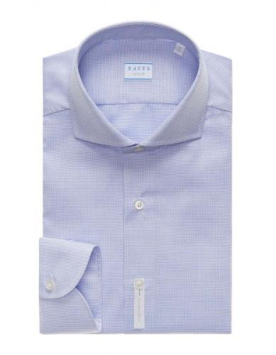 Tailor Fit Micro Dot Travel Shirt Blue