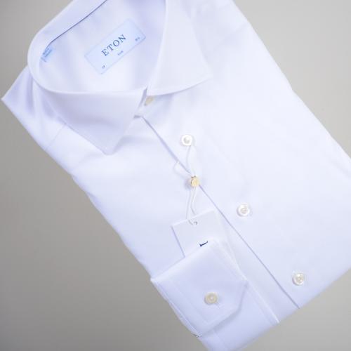 White Stretch Twill Shirt