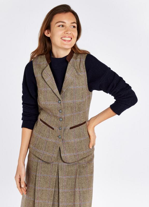 Dubarry Spindle - damväst i tweed