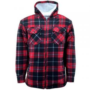 Lumberjack Sherpa Hooded Shirt - fleecejacka