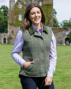 Hoggs Albany Ladies Lambswool Tweed Waistcoat