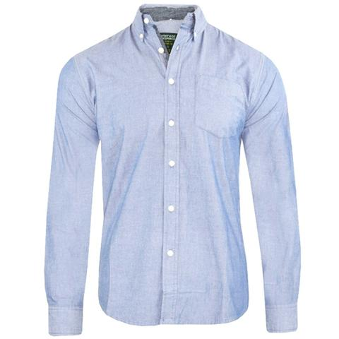 Attire Mens Long Sleeved Oxford Shirt