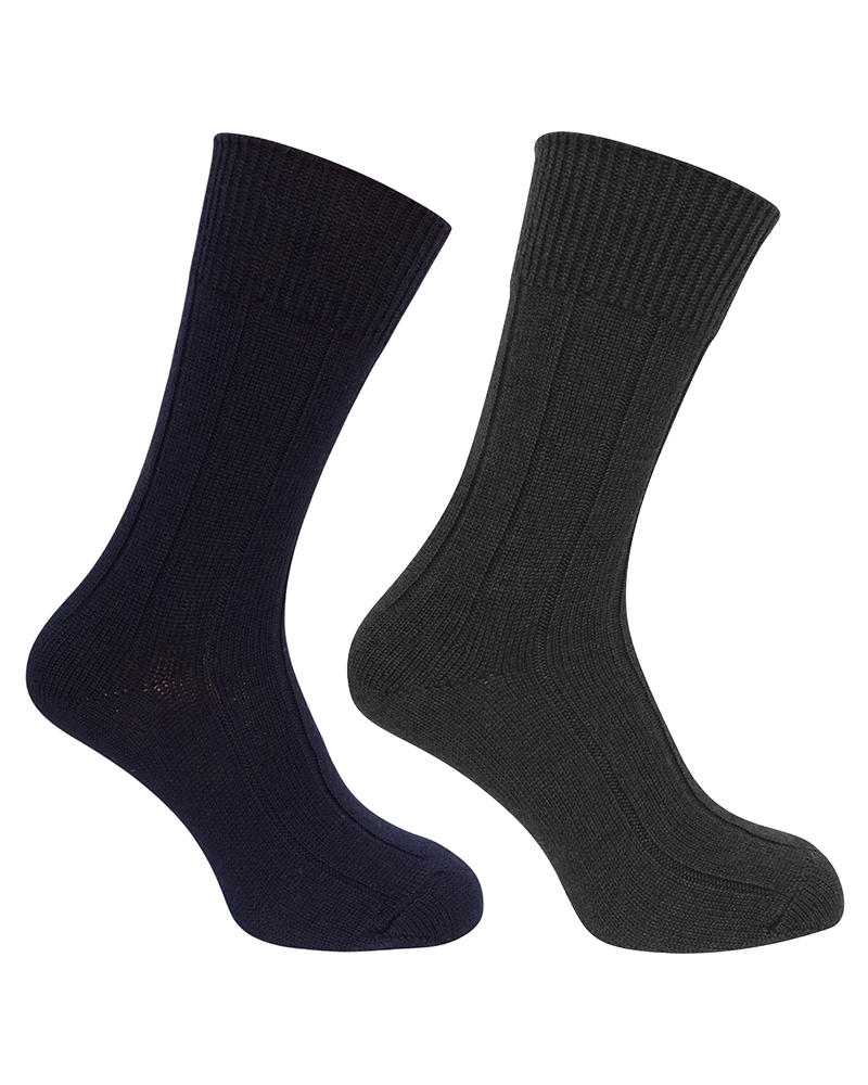 Hoggs Brogue socks - herrstrumpor 2-pack
