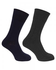 Hoggs Brogue socks - 2-pack grå/navy