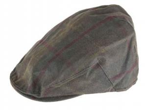 Oxford Blue Tartan Waxed Flat Cap