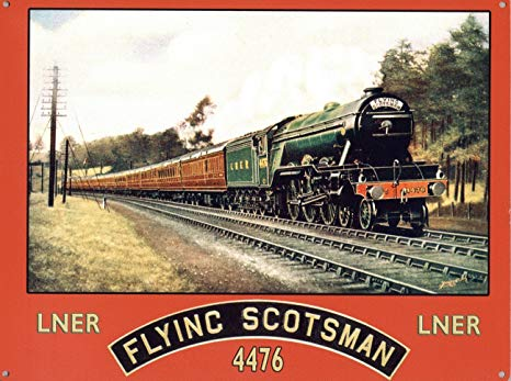 Metallskylt - Flying Scotsman