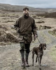 Hoggs Harewood Lambswool Tweed Shooting Coat
