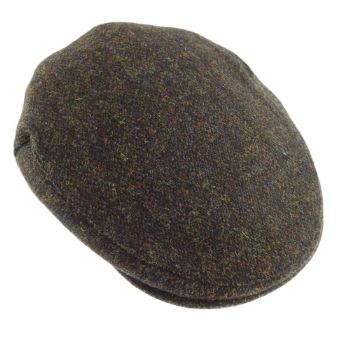 Tweedkeps - Harris Flat Cap - one size brun