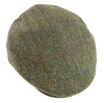 Tweedkeps - Harris Flat Cap - one size grön