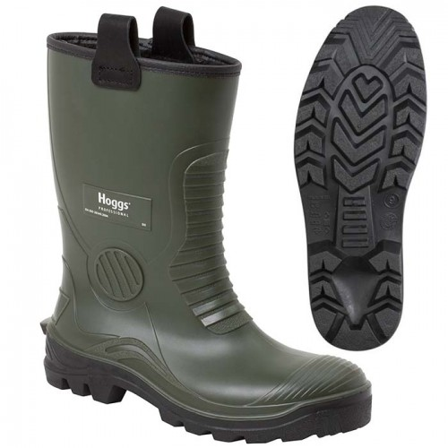 Hoggs Aqua-Tuff Safety Rigger Wellingtons