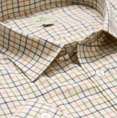 Hoggs Tattersallskjorta - Tan
