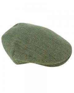 Hoggs Helmsdale Tweed Flat Cap - tweedkeps