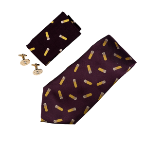 Slips, näsduk och manchettknappar - hagelpatron