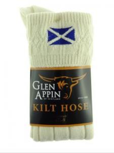 Glen Appin - kiltstrumpor - Saltire flag