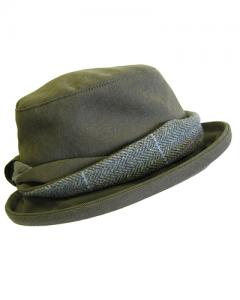 Hoggs Albany Tweed Twist Hat - dam