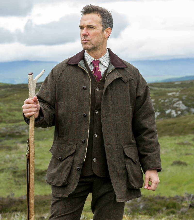Hoggs Harewood - tweed shooting jacket