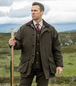 Hoggs Harewood tweed shooting coat