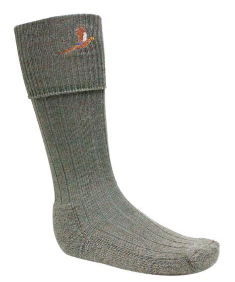 Bisley - Knästrumpa med fasan - grå