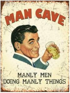 Metallskylt - Man Cave