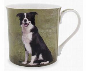 Mugg - sittande border collie