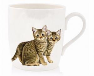 Mugg - kattungar grå