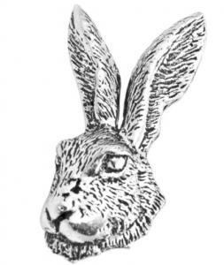Brosch - Hare (huvud)