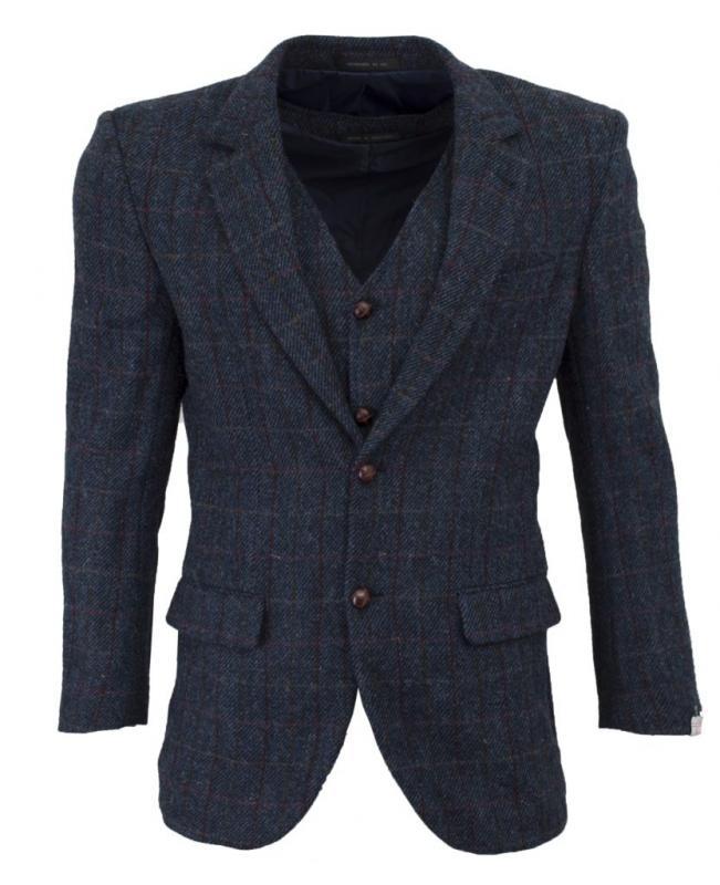 Walker & Hawkes Royal Blue - Harris tweedkavaj