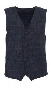 Walker & Hawkes Royal Blue - Harris tweedväst