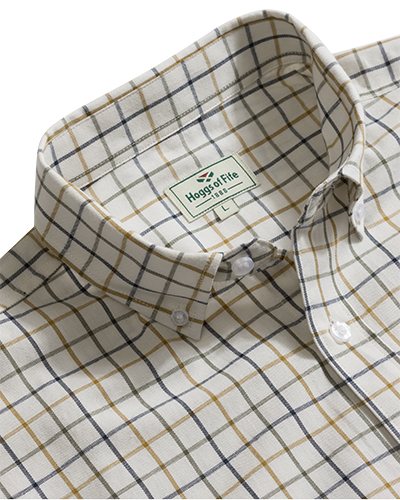 Hoggs Berwick - kortärmad Tattersallskjorta