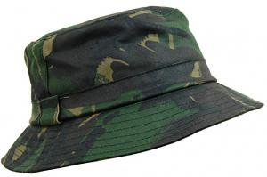 Game waxed bush hat - camo