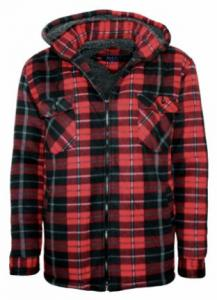 Lumberjack Sherpa Hooded Shirt - fleecejacka