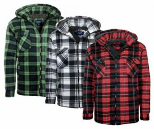 Lumberjack Sherpa Hooded Shirt