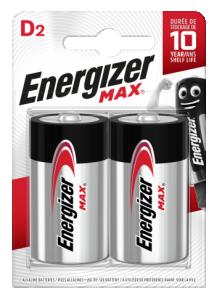 Energizer, MAX alkaliska D 2-p