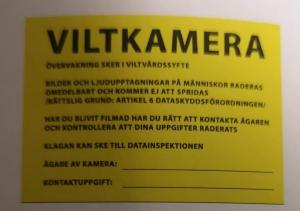 Varningsskylt viltkamera, Grey Oak