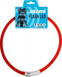 Ledhalsband Ozami lightled, röd