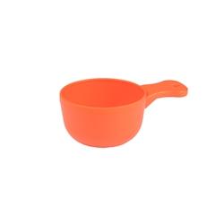 Rund plastkåsa orange