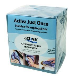 Activa Just Once Städduk Blå 100-pack