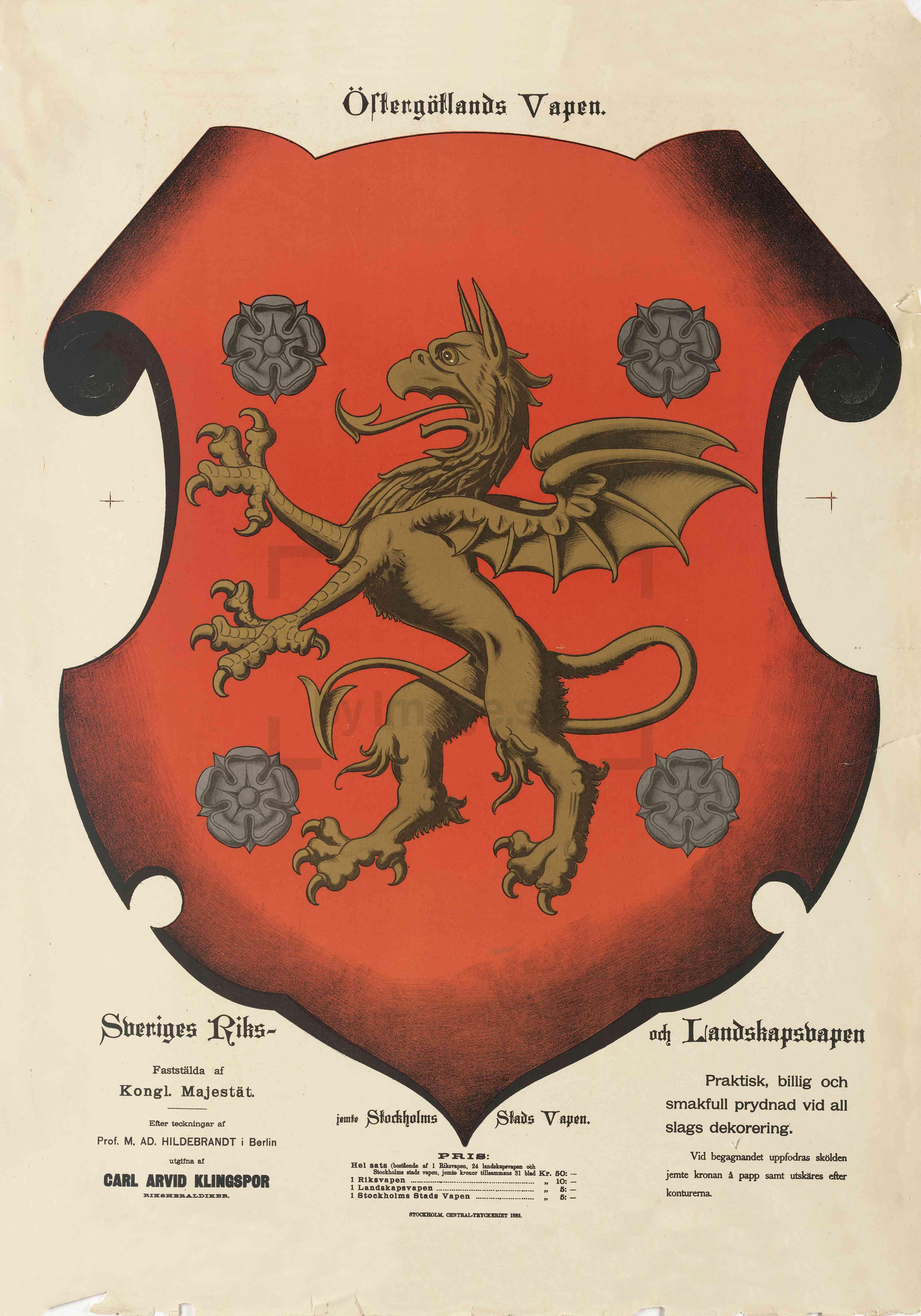 Landskap 008 Coat Of Arms Ostergotland Province