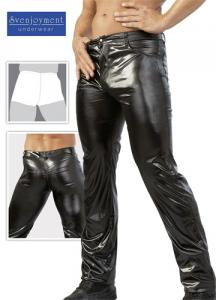 Wetlook Mens Zip Jeans