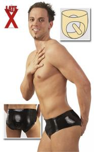 Latex Mens Pants Black